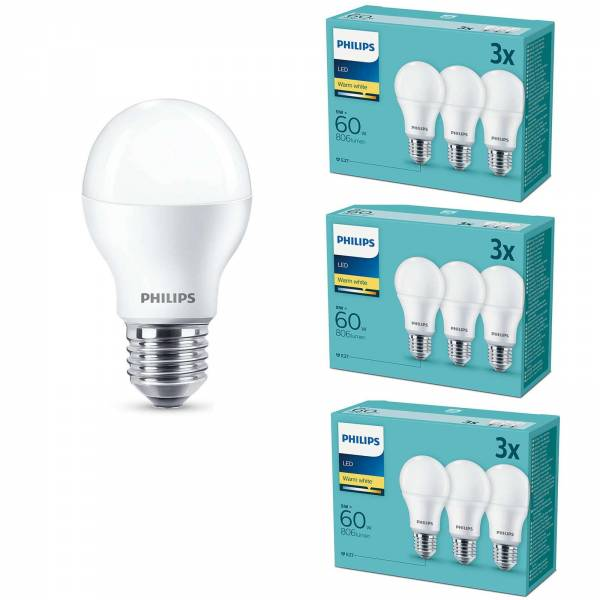 Philips 9er Set LED Leuchtmittel Signify E27 9W