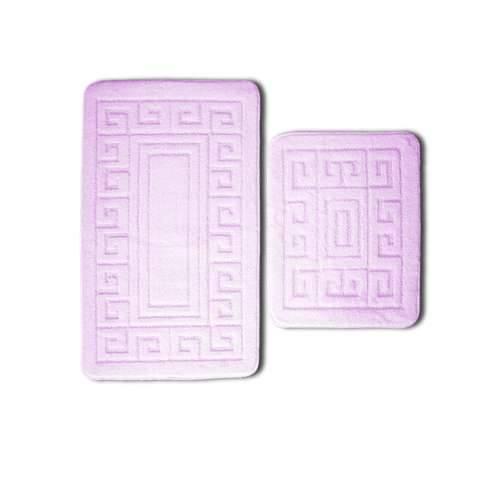 Badezimmer-Matten-Set 2tlg Alma griechisch lila