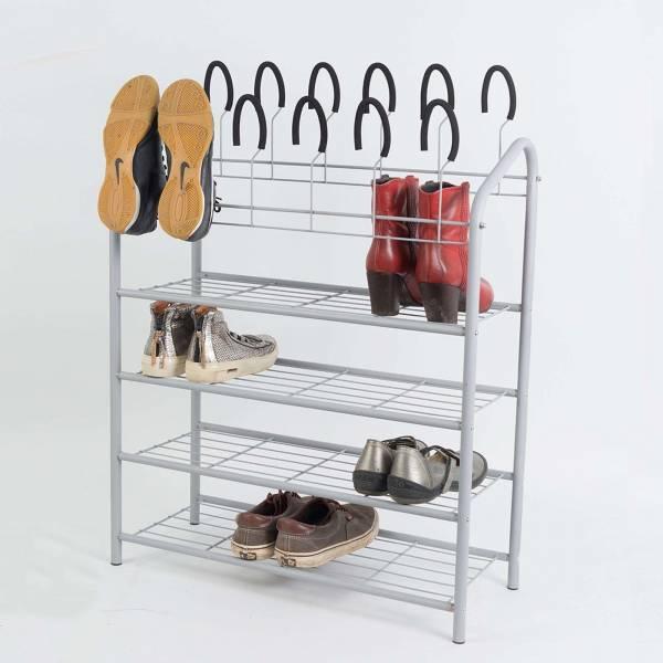Schuhregal auf 4 Ebenen für 18 Paar Schuhe Schuhständer