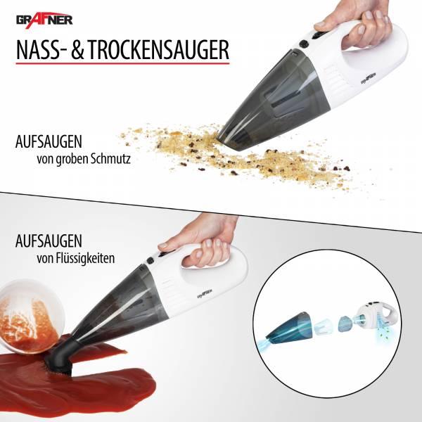 Grafner® 2in1 Akku Nass- und Trockensauger HS10873