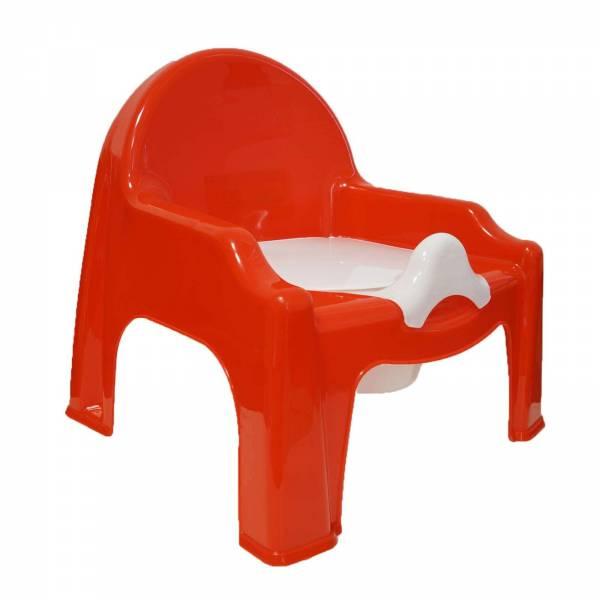 Kindertoilette / Kindertöpfchen mit Deckel in rot