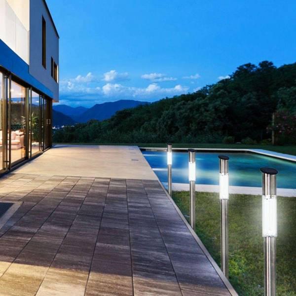 24er Set Grafner® XXL LED Solarlampe mit Erdspieß 72cm Solarleuchte aus Edelstahl Solar Wegleuchte