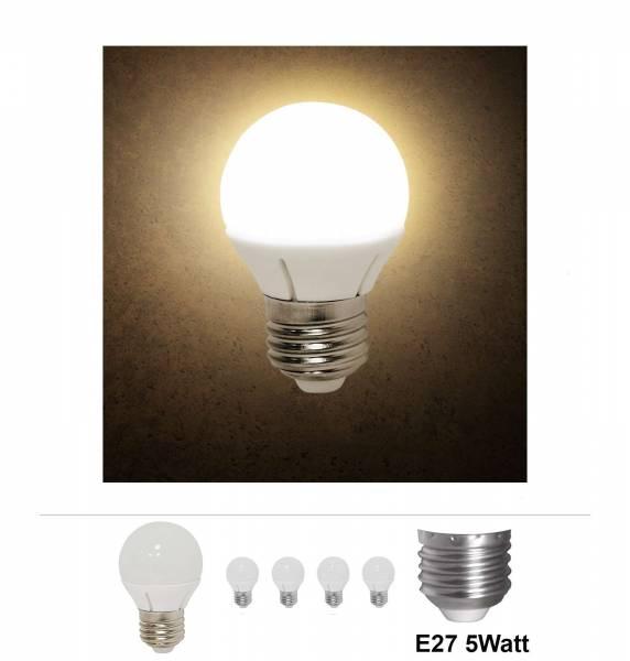 4x Grafner® LED Leuchtmittel E27 5 Watt 3000K Warmweiss