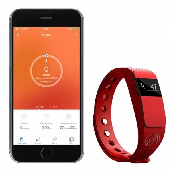 NINETEC Smartfit Fitnesstracker F2 Rot