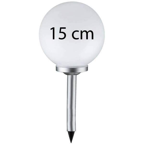 Grafner® LED Solar Kugel Ø15cm Solarleuchte Kugelleuchte mit Erdspieß