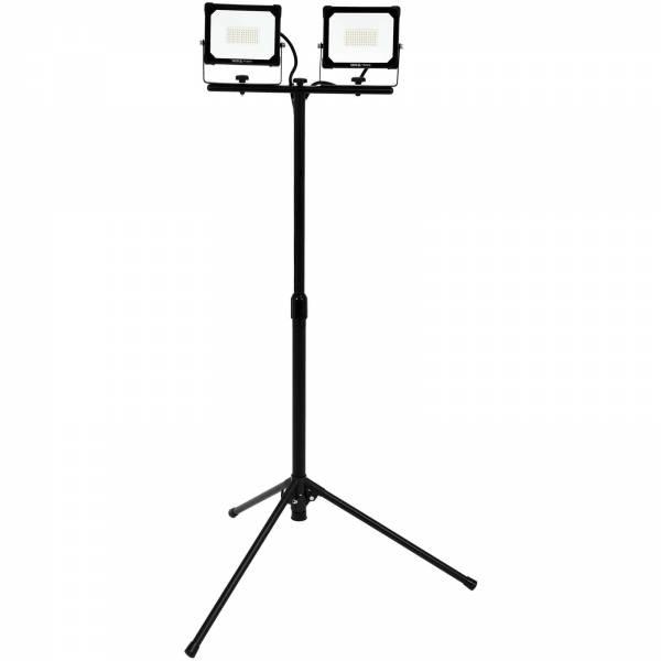 YATO Profi Doppel-Baustrahler mit Stativ | SMD-LED | 2x 30 Watt | 2x 3000 lm | IP65 | Teleskop | YT-81817