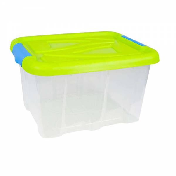 Stapelbox Barcelona 30 Liter mit Deckel grün stapelbar