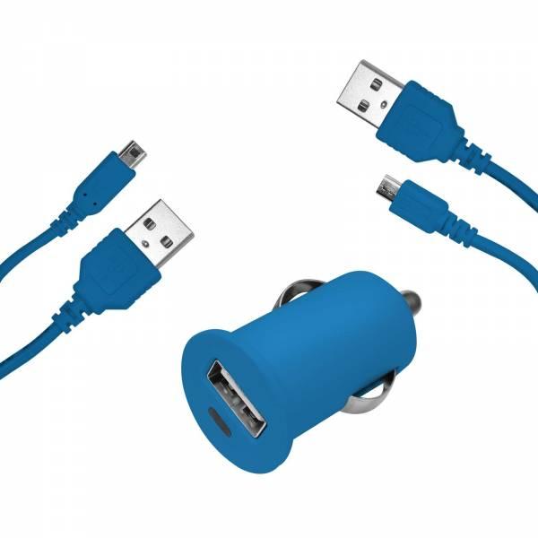 HAMA USB KfZ Ladegerät Micro USB / Nintendo DS blau