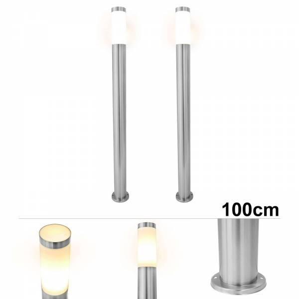 2er Set Grafner® Edelstahl Wegleuchte WL10189 Gartenlampe 100 cm