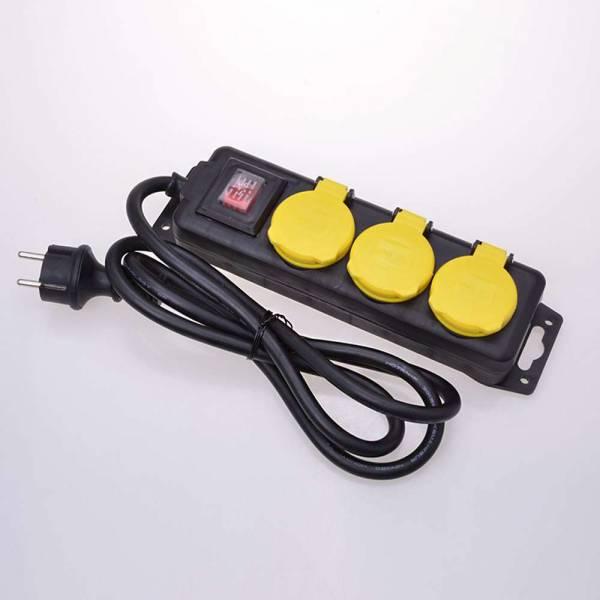 3-fach Steckdosenleiste mit Schalter für den Außenbereich