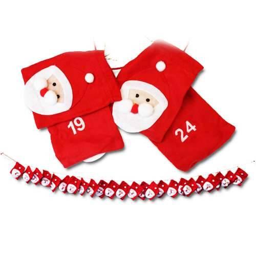 Adventskalender Weihnachtsmann Taschen zum Selbstbefüllen