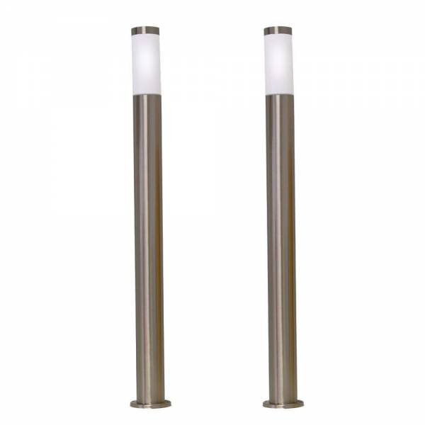 2er Set Grafner Edelstahl Wegleuchte 10S10 Gartenlampe 100 cm