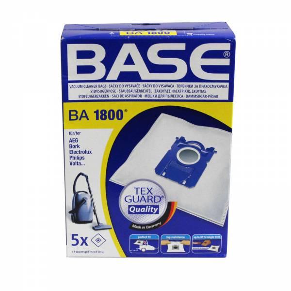 Base Staubsaugerbeutel BA 1800 passend für AEG, Bork, Electrolux, Philips, Progress, Volta, Zanussi
