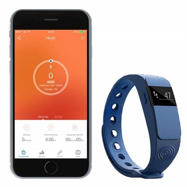 NINETEC Smartfit Fitnesstracker F2 Blau