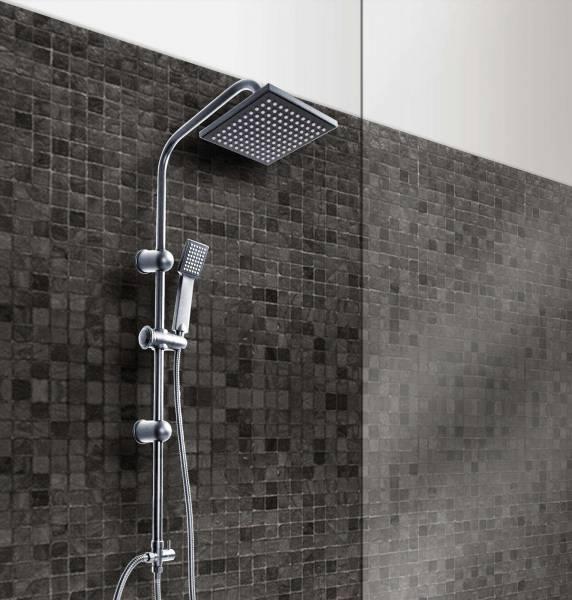 Grafner Duschgarnitur mit Regenschauerduschkopf und Handbrause Duschsäule R350