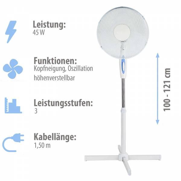 Grafner® Standventilator mit Oszillationsfunktion
