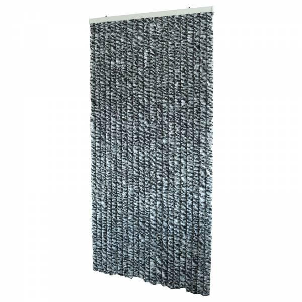 Flauschvorhang 90x200 cm Fliegenvorhang in schwarz/grau