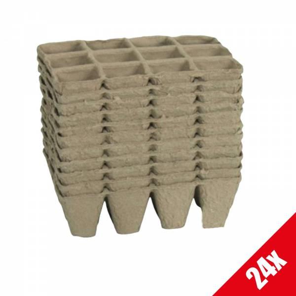 24x Anzuchtschale Anzuchttöpfe Pikierschale Saatschalen Anzuchtplatte Platte