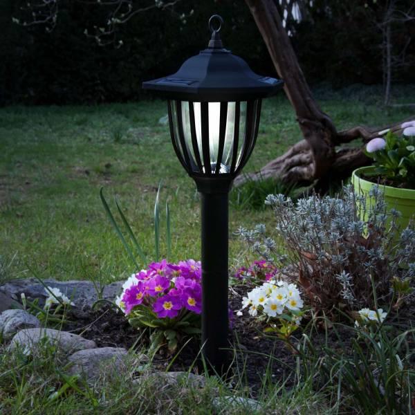 3er Set Grafner® LED Solar Standleuchte 52cm Gartenlampe mit Erdspieß