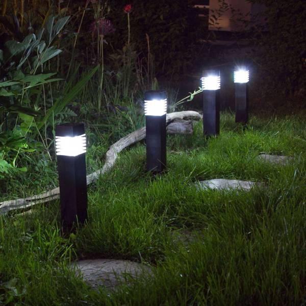 12er Set Grafner® Solar LED Gartenleuchte Solarlampe Solar Wegleuchte