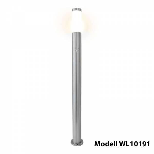 Grafner Edelstahl Wegleuchte mit Bewegungsmelder 10S11PIR Gartenlampe 110 cm