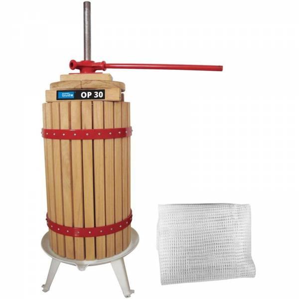 Güde Obstpresse OP 30 Liter Volumen mit 1 Presstuch Saftpresse Weinpresse