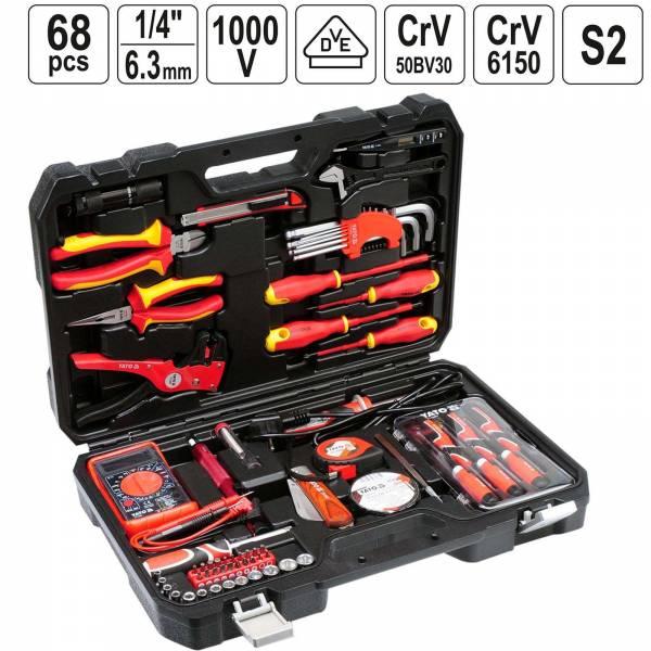 YATO Profi Elektriker Werkzeugkoffer 68 teilig bestückt YT-39009