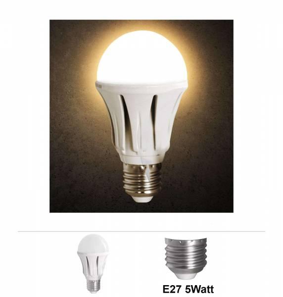 Grafner® LED Leuchtmittel Alu 5W E27 3000K Warmweiss