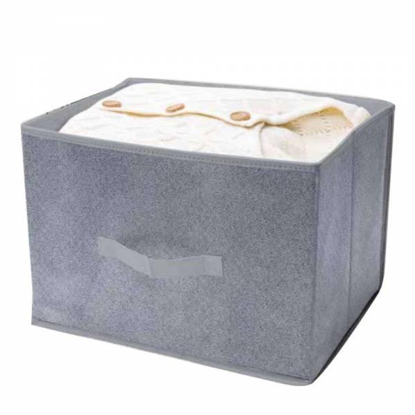 Ordnungsbox grau meliertes Vlies 19L 38 x 26 x 26cm