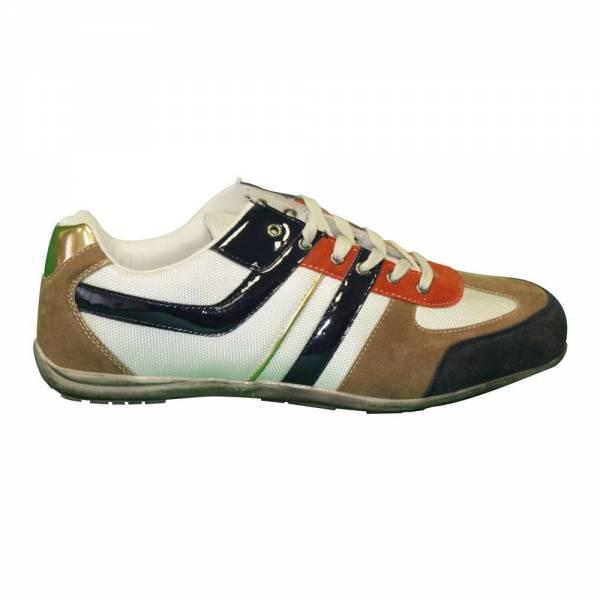 Herren Sneaker Größe: 44 / Farbe: braun - weiss