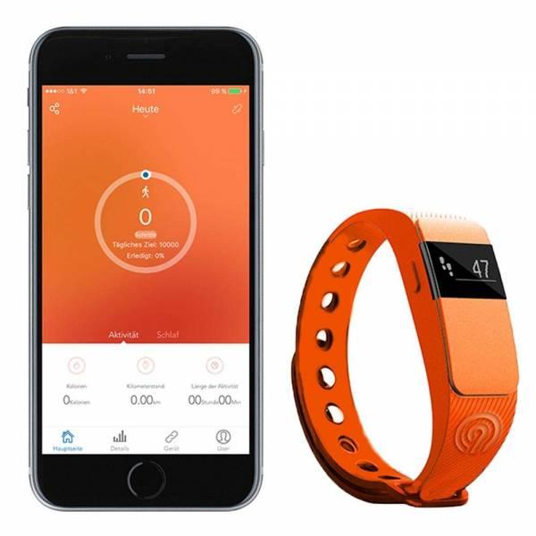 NINETEC Smartfit Fitnesstracker F2 Orange