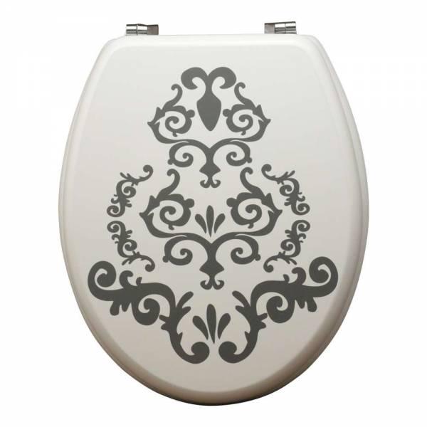 WC Sitz aus MDF Motiv Ornament Toilettendeckel