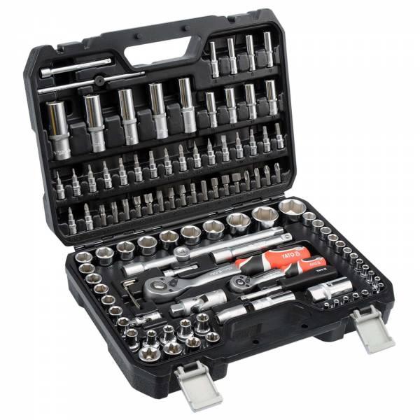 YATO Profi Steckschlüsselsatz 108 tlg. Werkzeugkoffer YT-38791