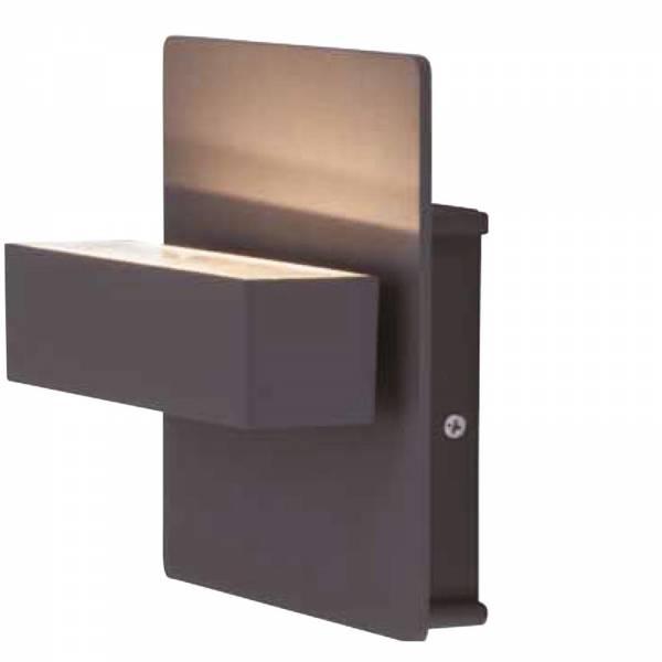 Grafner Aluminium-Wandlampe 6087 WL10533 dunkelgrau