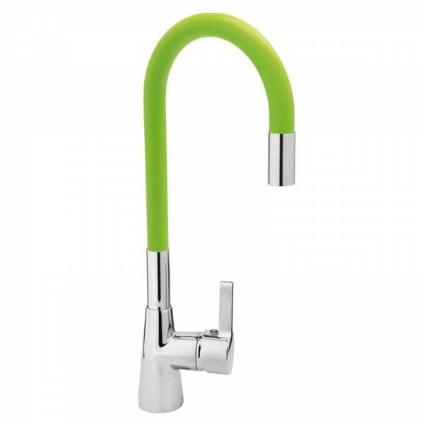 Spültisch Einhebel Küchenarmatur flexibel in grün Wasserhahn