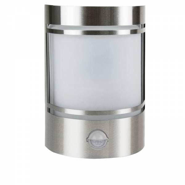 Grafner Edelstahl-Wandlampe mit Bewegungsmelder 153SQE27PIR WL10197