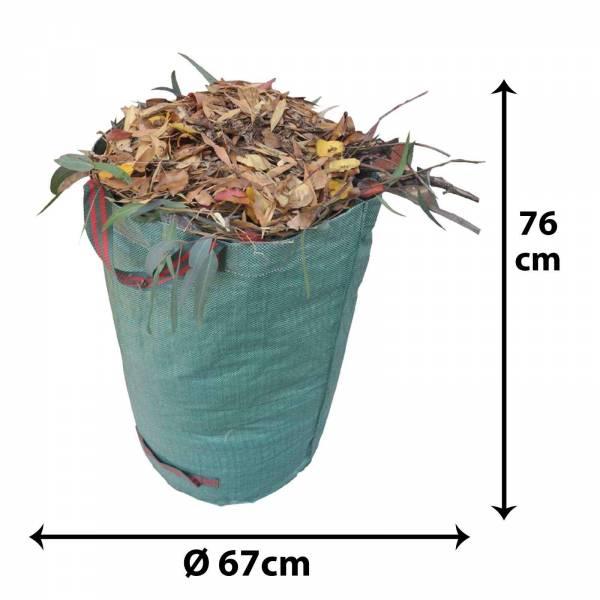 Grafner Gartenabfallsack 272 Liter Gartentasche rund Laubsack