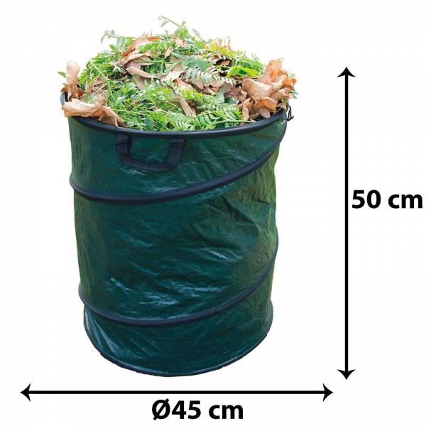 Grafner Pop-Up Gartenabfallsack 80 Liter Gartentasche rund Laubsack