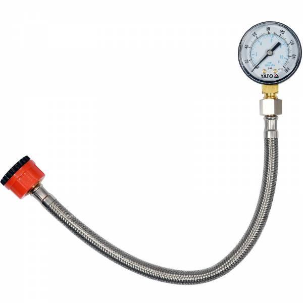 """YATO Profi Wasserdruckmesser mit Manometer 3/4"""" zu 1/2"""" YT-24790"""
