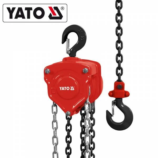YATO Profi Hand Kettenzug 5000 kg YT-58955 Kettenseilzug 5 Tonnen Flaschenzug