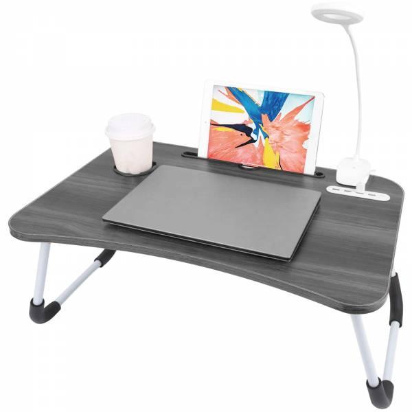 Soundlogic Faltbarer Notebook- und Tablet-Tisch Grau 15307