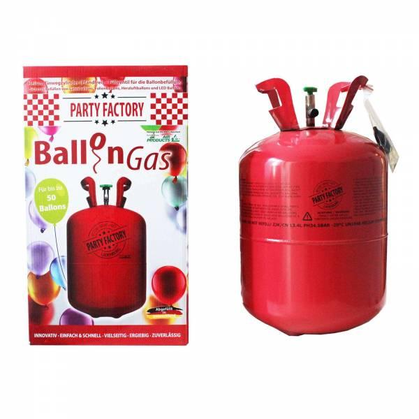 Party Factory Ballongas Helium für bis zu 50 Ballons