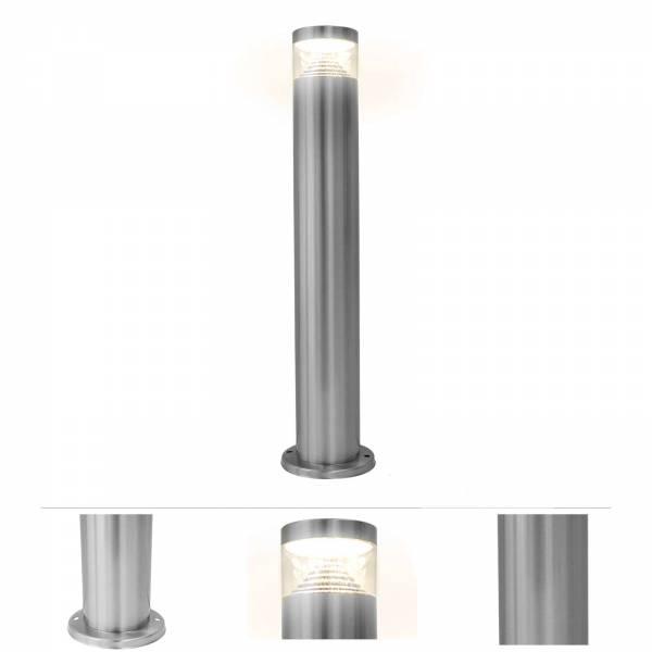 Grafner® Edelstahl Wegleuchte mit integrierten LED Leuchtmittel Gartenlampe 49,5cm