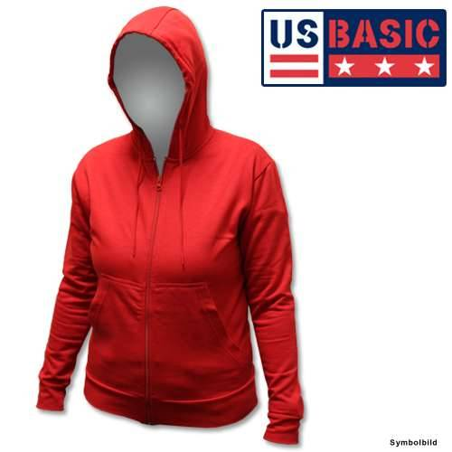 US Basic Damenhoodie Pullover rot Größe: S