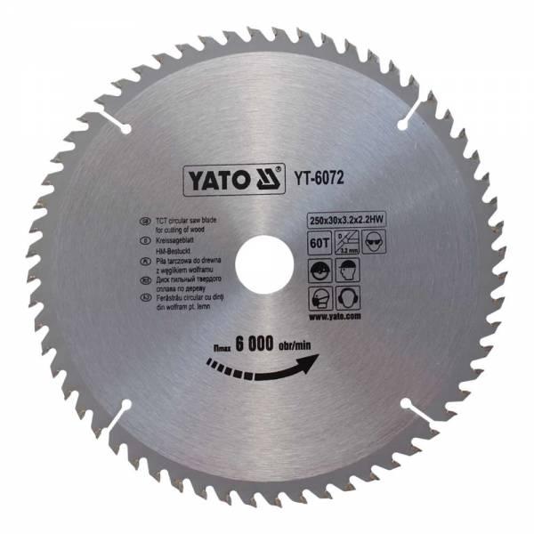 YATO Profi HM Kreissägeblatt 250x30 60T YT-6072