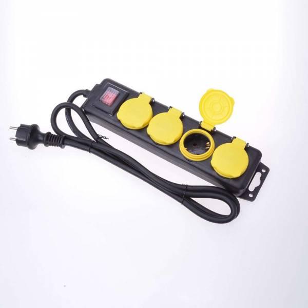 4-fach Steckdosenleiste mit Schalter für den Außenbereich