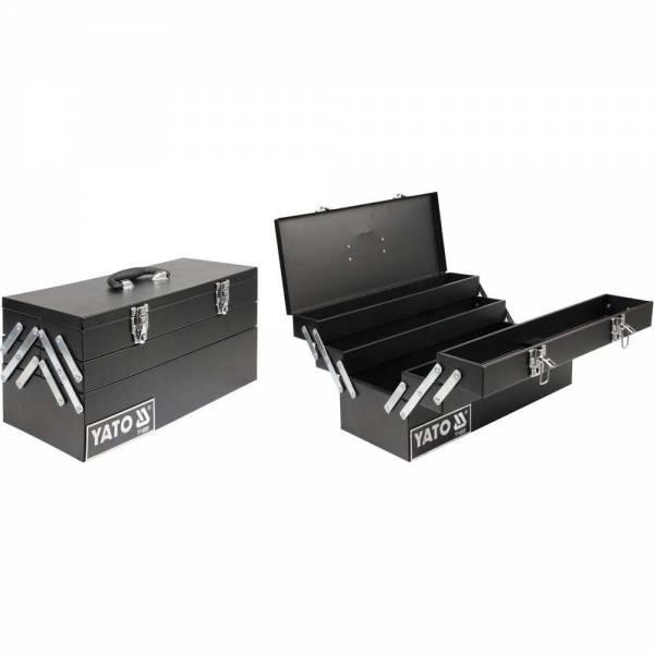 YATO Profi Werkzeugkasten YT-0885 Werkzeugkoffer aus Metall