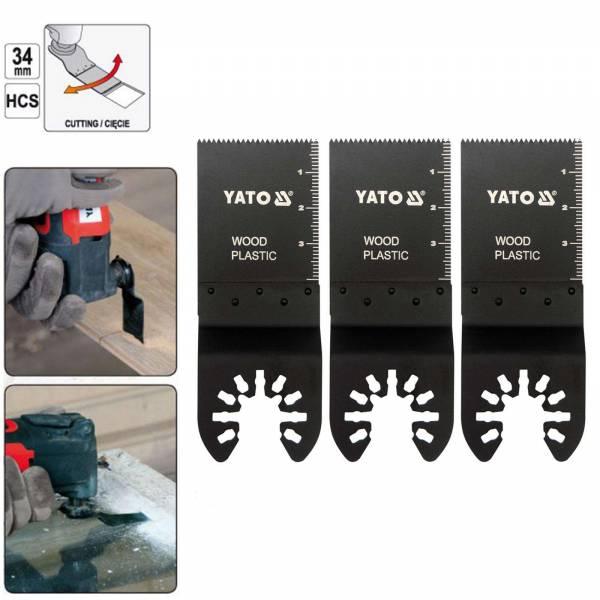 YATO Profi 3 Tauchsägeblatter für Multifunktionswerkzeug YT-34685