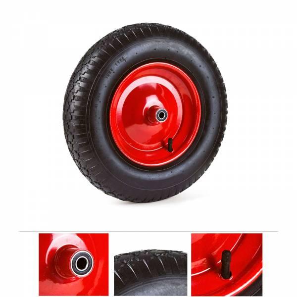 Grafner® Schubkarrenrad 4.60 / 4.00-6 PU Luftbereifung Stahlfelge Schubkarrenreifen