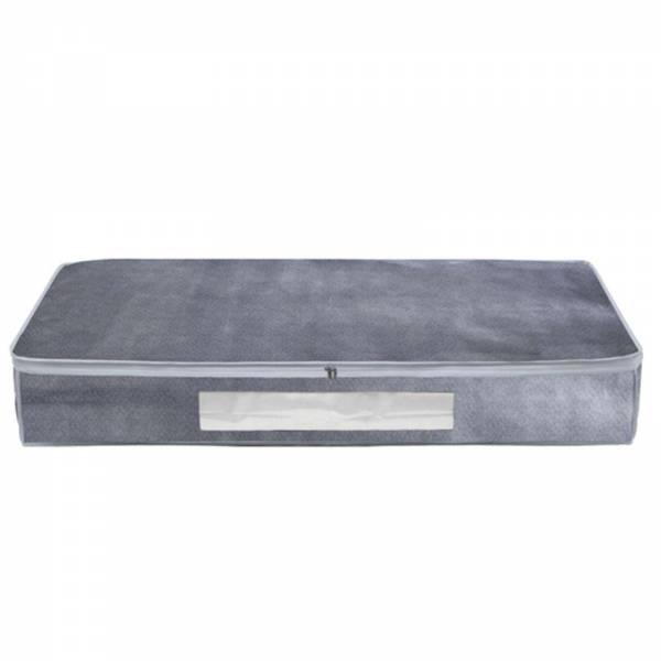 Unterbettkommode Grau meliertes Vlies 15x100x45 cm 67L